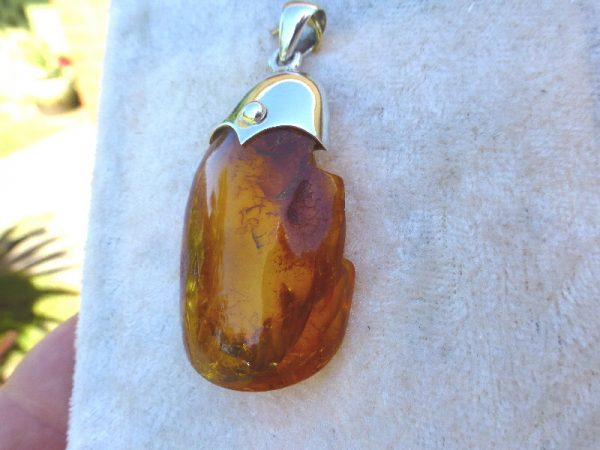 reduced silver sterling sumatra amber pendant includes products in incl beautiful golden blue chain