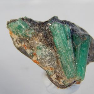 Top quality Australian emerald crystals, Aga Khan mine Poona, W.Aust.